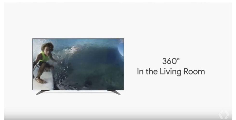 YouTube lanserar 360-video på tv:n