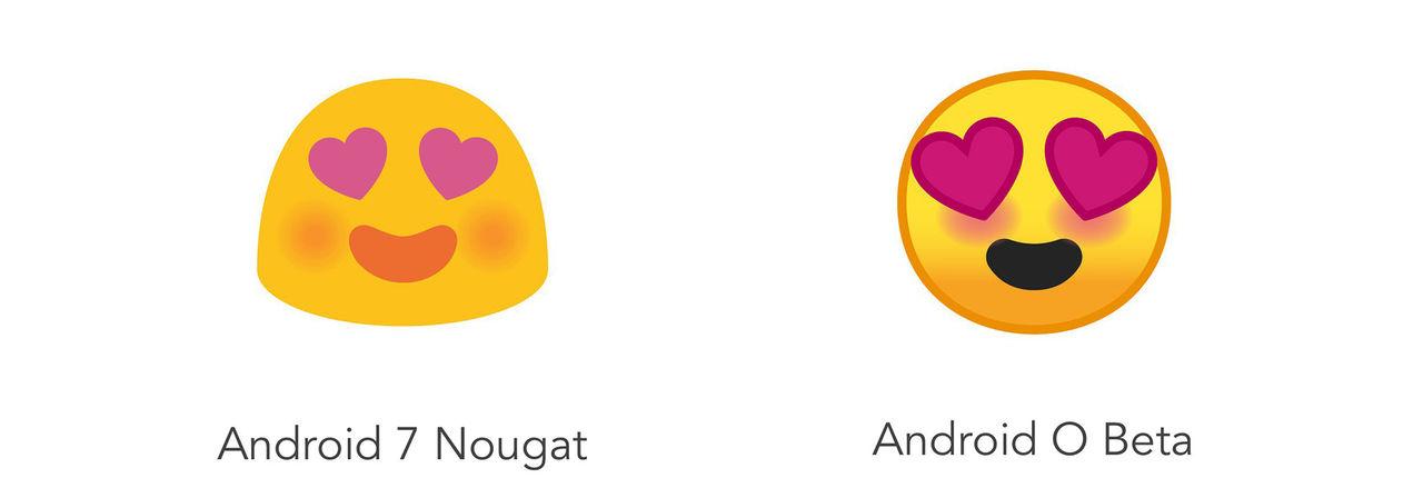 Ny design på emojis i Android O