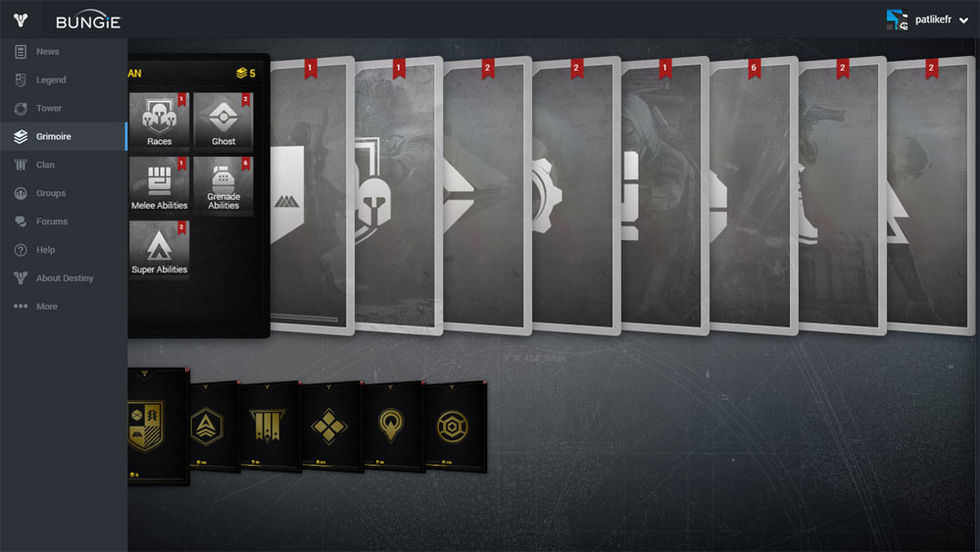 Destiny 2 skippar Grimoire-korten