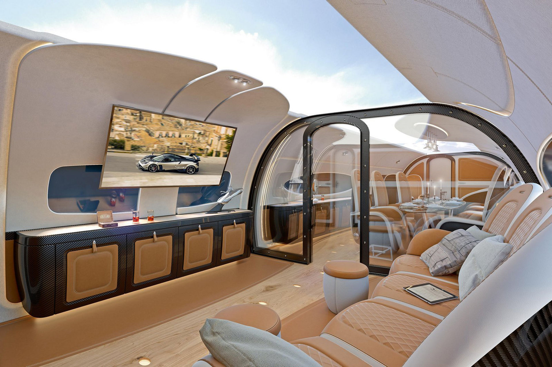 Pagani designar flygplanskabin åt Airbus