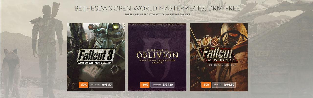Fallout 3, New Vegas och Oblivion finns nu på GOG