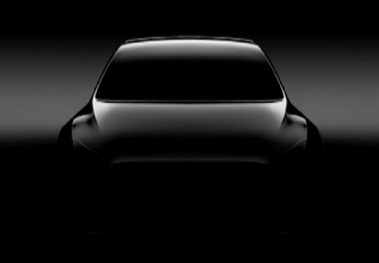 Tesla släpper teaserbild på Model Y