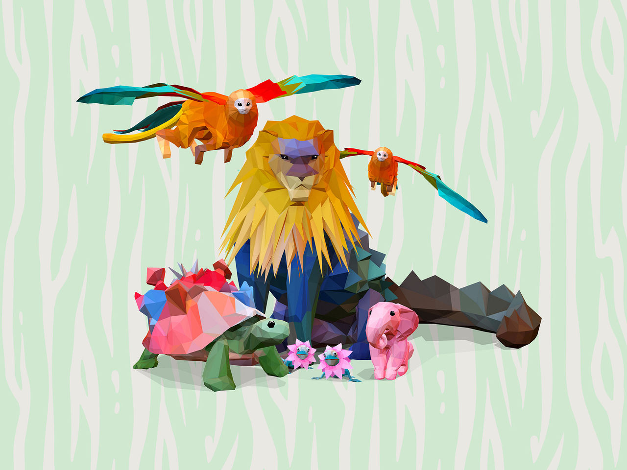 Digitala fantasidjur på Parken Zoo