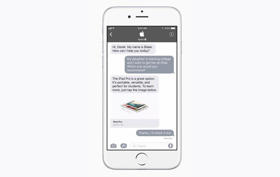 Apple lanserar Business Chat