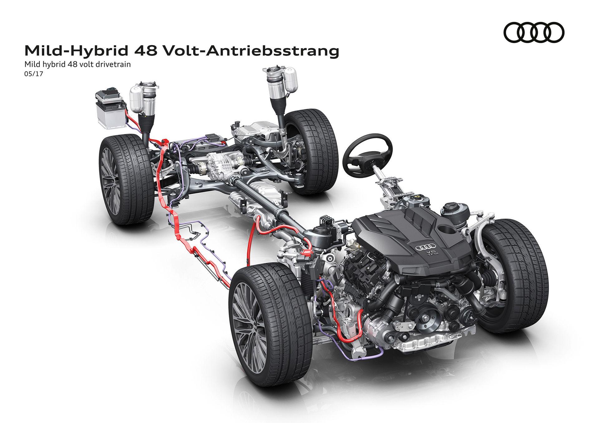 Nya Audi A8 får 48-voltssystem som standard