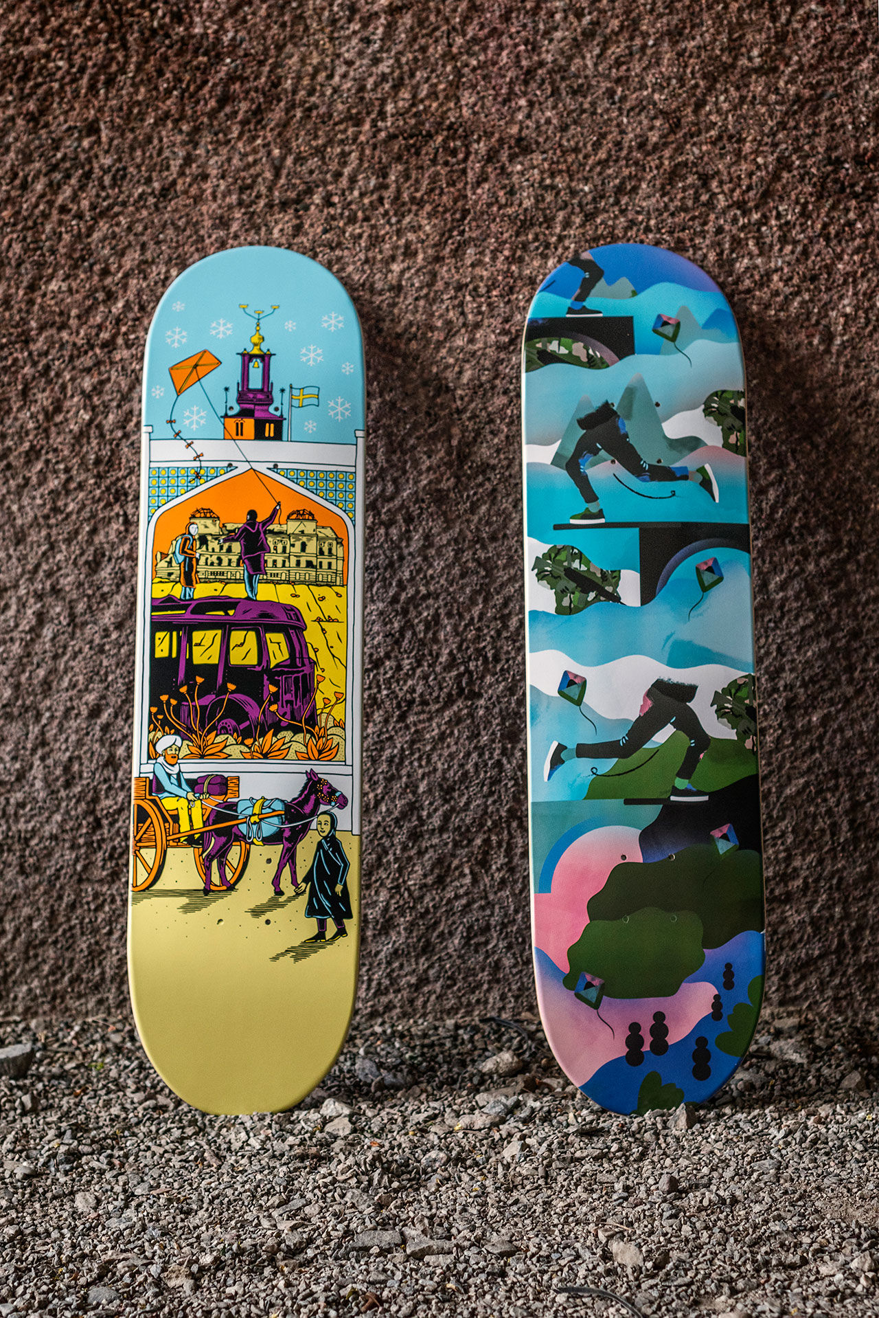 Skateboarding aktiverar ensamkommande barn