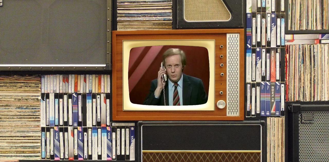 Traditionell tv tappar tittare