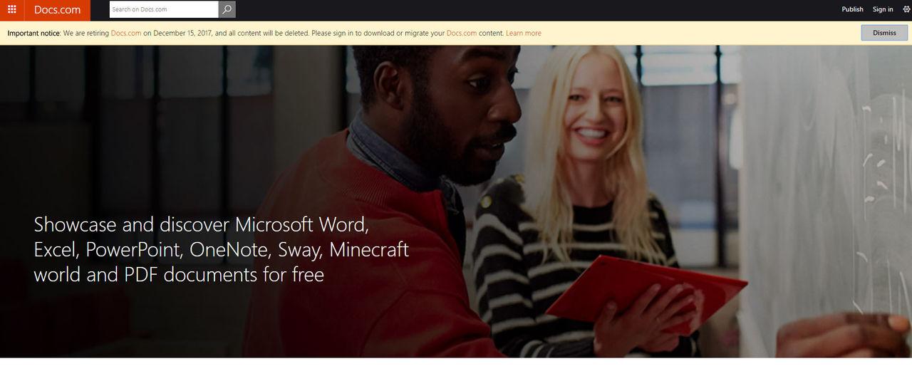 Microsoft stänger ner sin molntjänst Docs.com