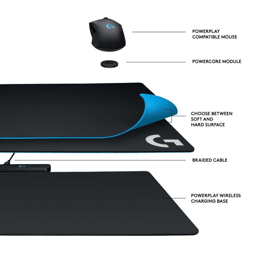 Logitech visar upp musmattan G Powerplay som laddar musen