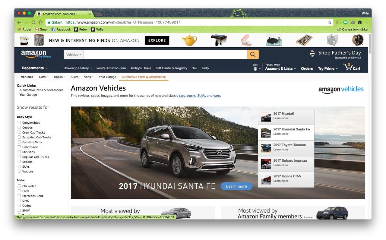 Ska Amazon börja sälja bilar i Europa?
