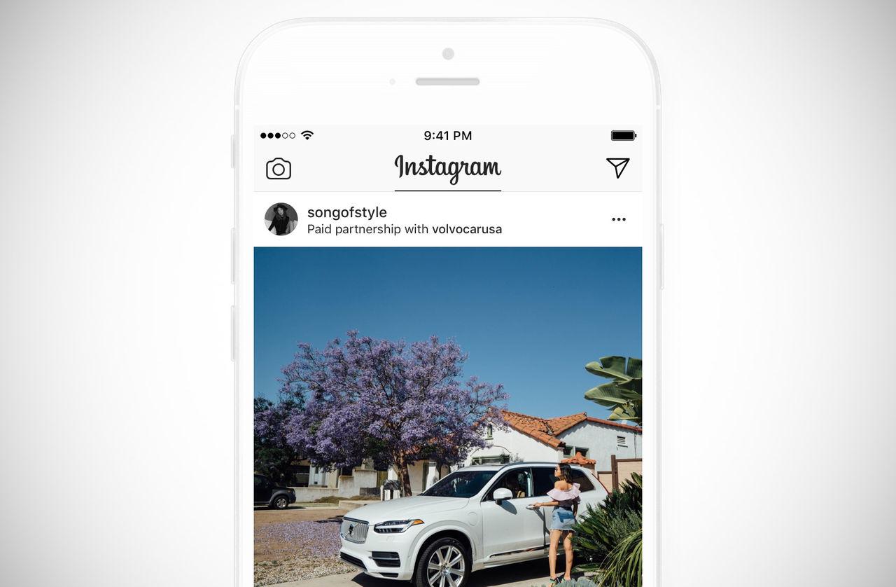 Instagram ska märka ut sponsrade poster