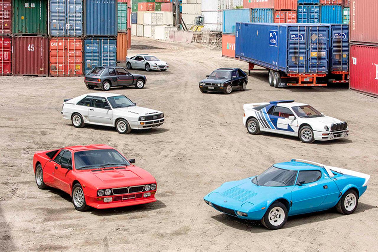 Härlig samling rallybilar på auktion