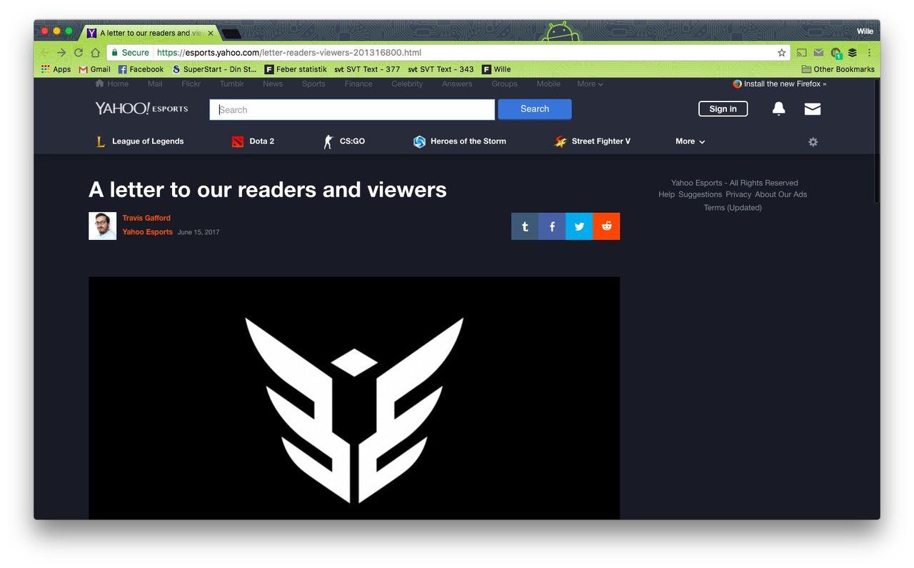 Yahoo eSports stänger ner