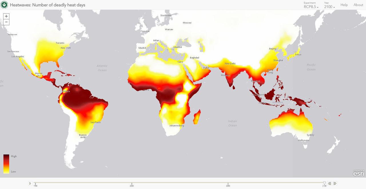 Dödliga värmeböljor finns i 30 procent av världen