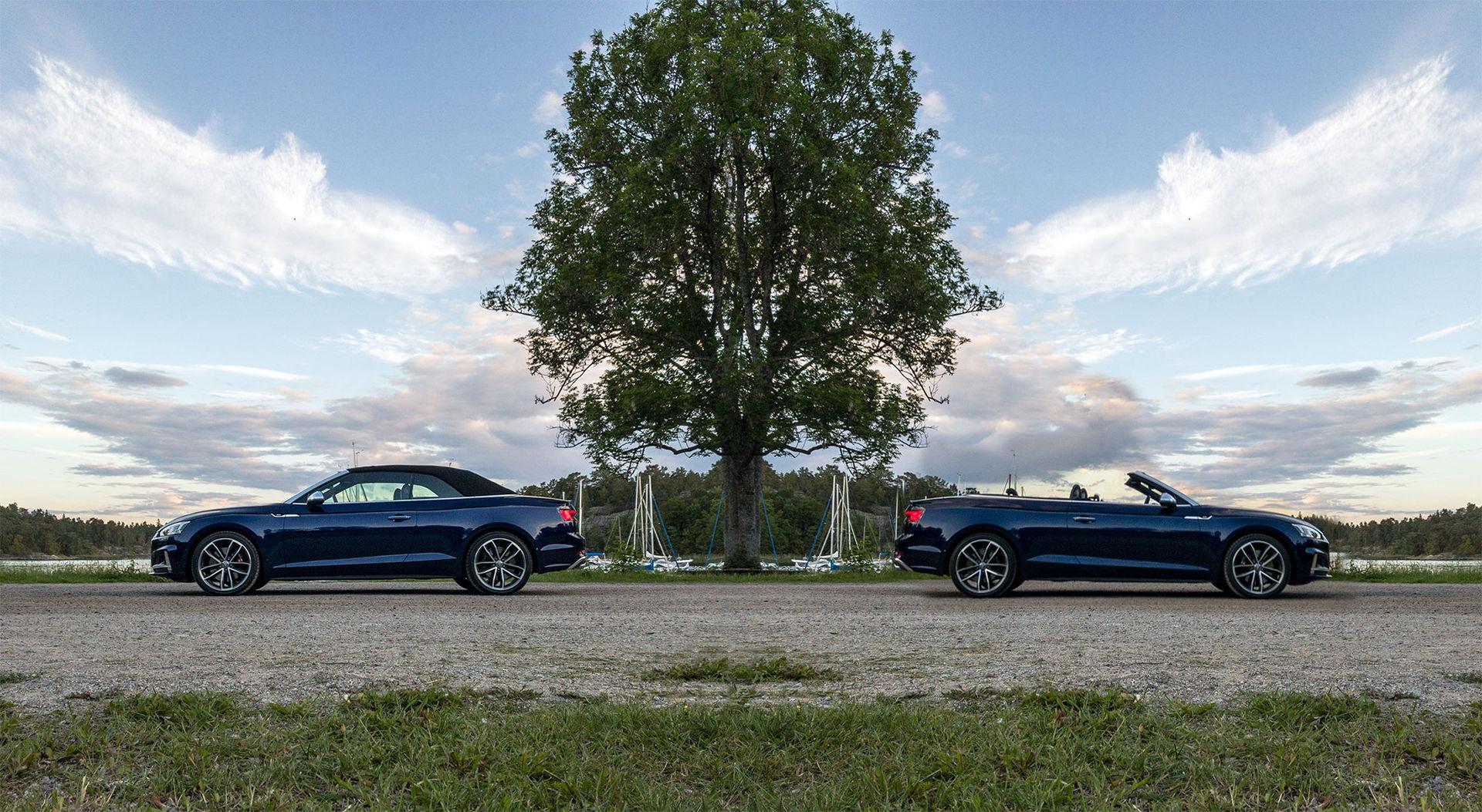 Audi S5 är lika snygg med som utan tak