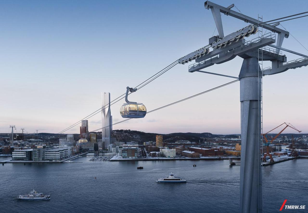 Klart att Göteborg får bygga en linbana