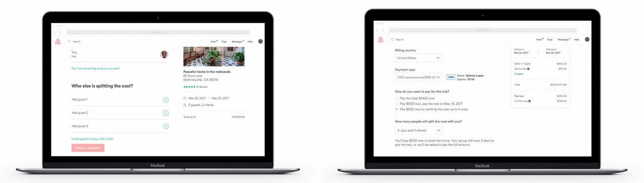 Airbnb erbjuden möjlighet att dela på notan