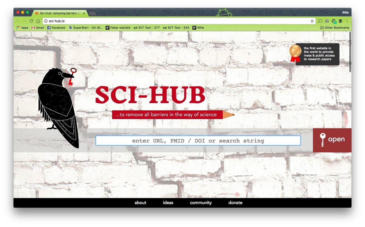 Sci-hub förlorar upphovsrättsmål