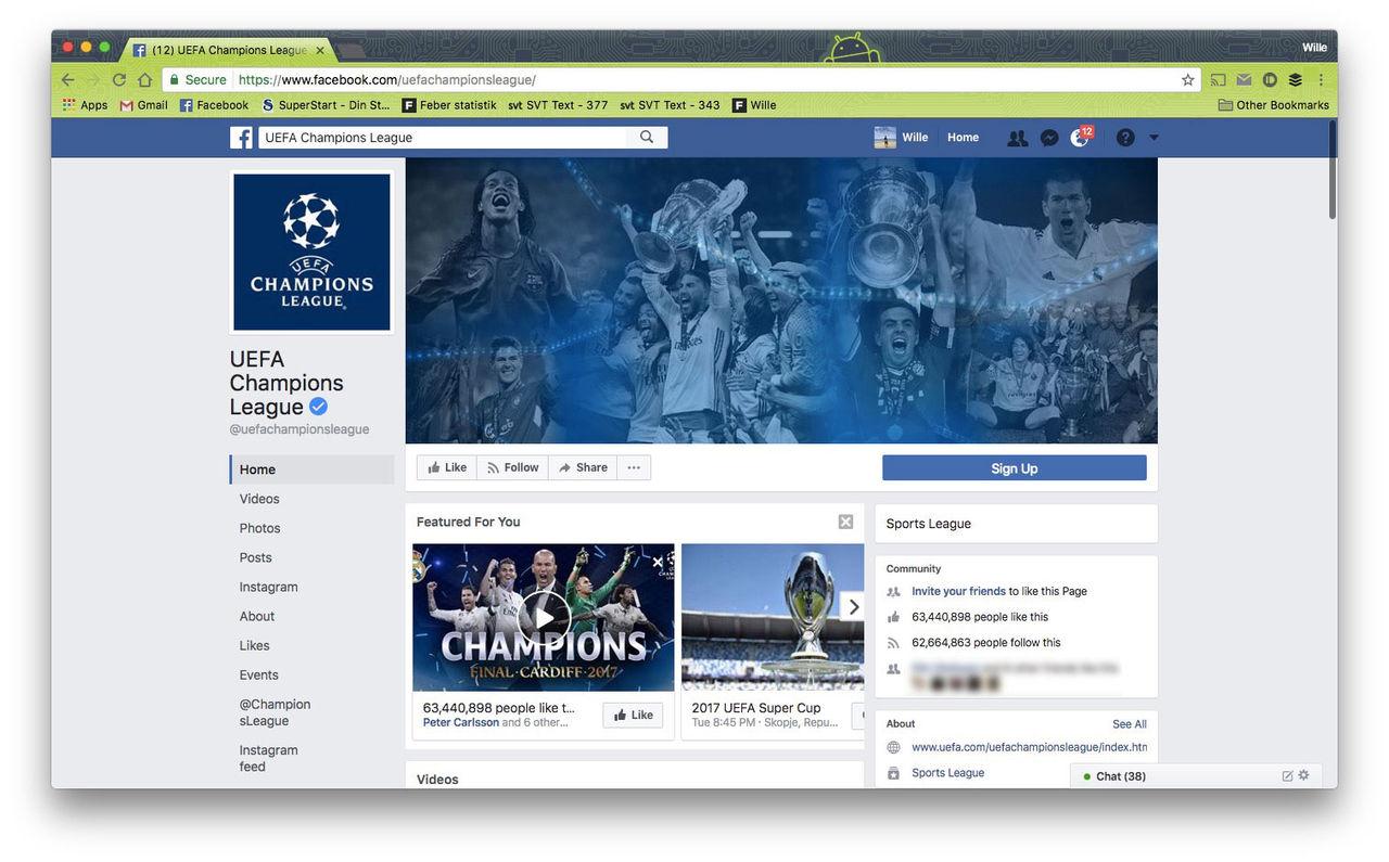 Facebook börja sända Champions League