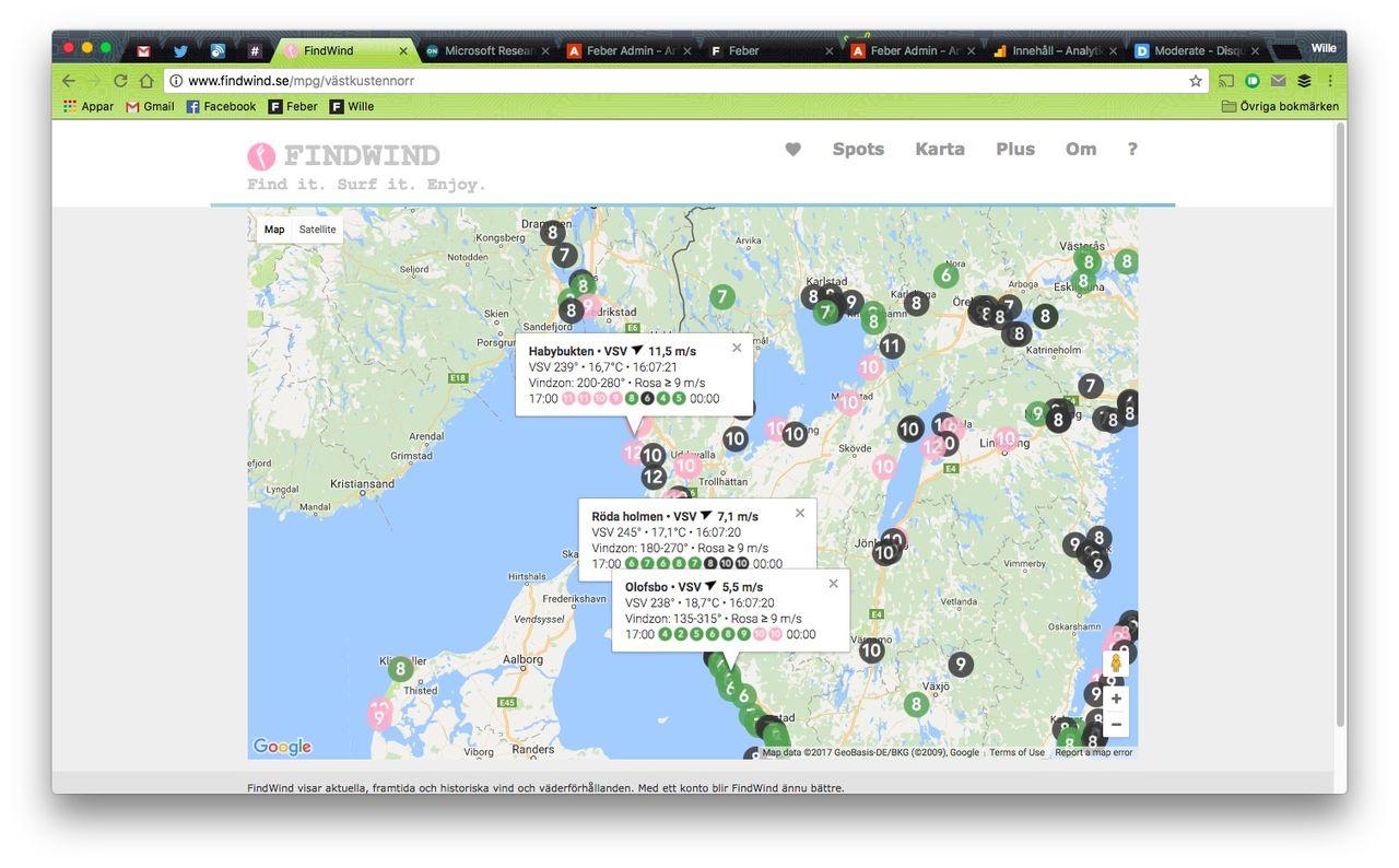 Hitta bästa vinden med FindWind