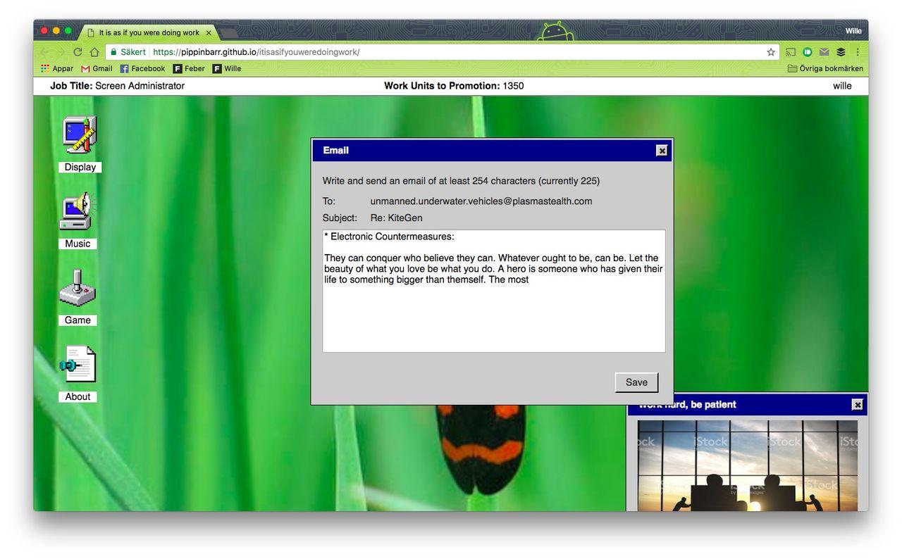 Låtsas att du jobbar på Windows 95