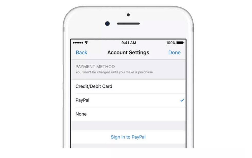 Det blir möjligt att betala med PayPal på iTunes