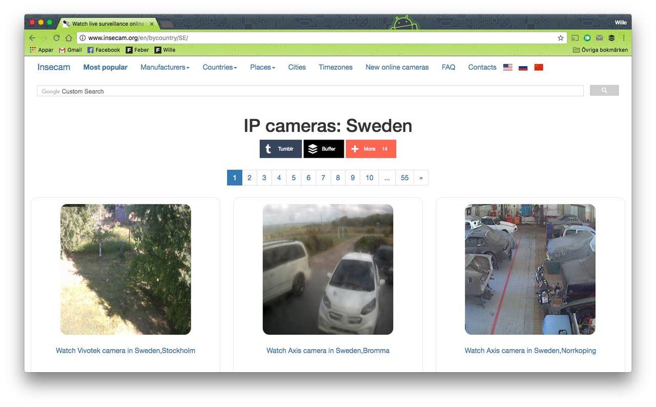 Kolla in oskyddade webbkameror runt om i världen