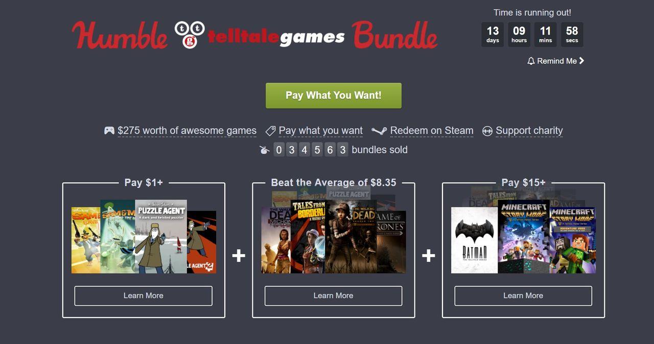 Köp typ alla Telltale-spel för en billig peng