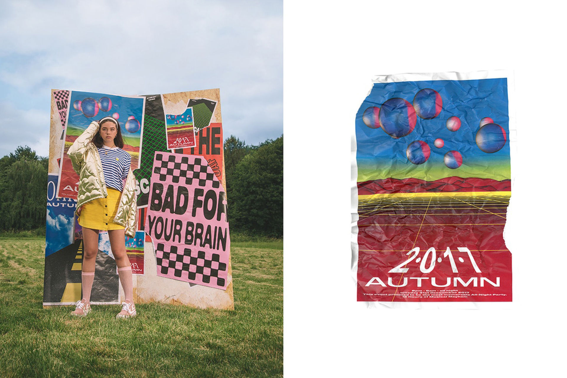 Kläder inspirerade av 80-talets rave-fester
