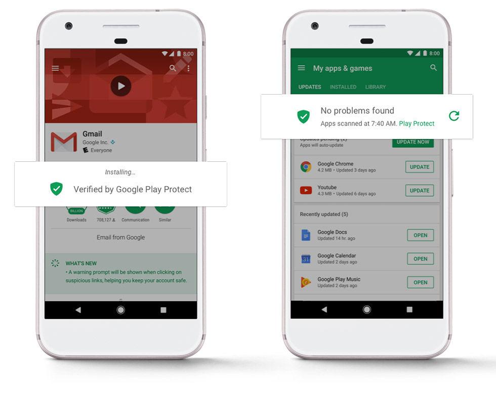 Google Play Protect skyddar Android-användare från malware