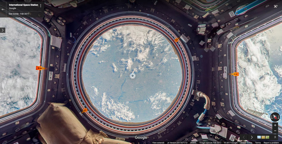 Nu finns Google Street View i rymden med