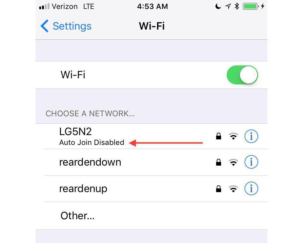 iOS 11 förhindrar att du kopplar upp dig mot risigt wifi