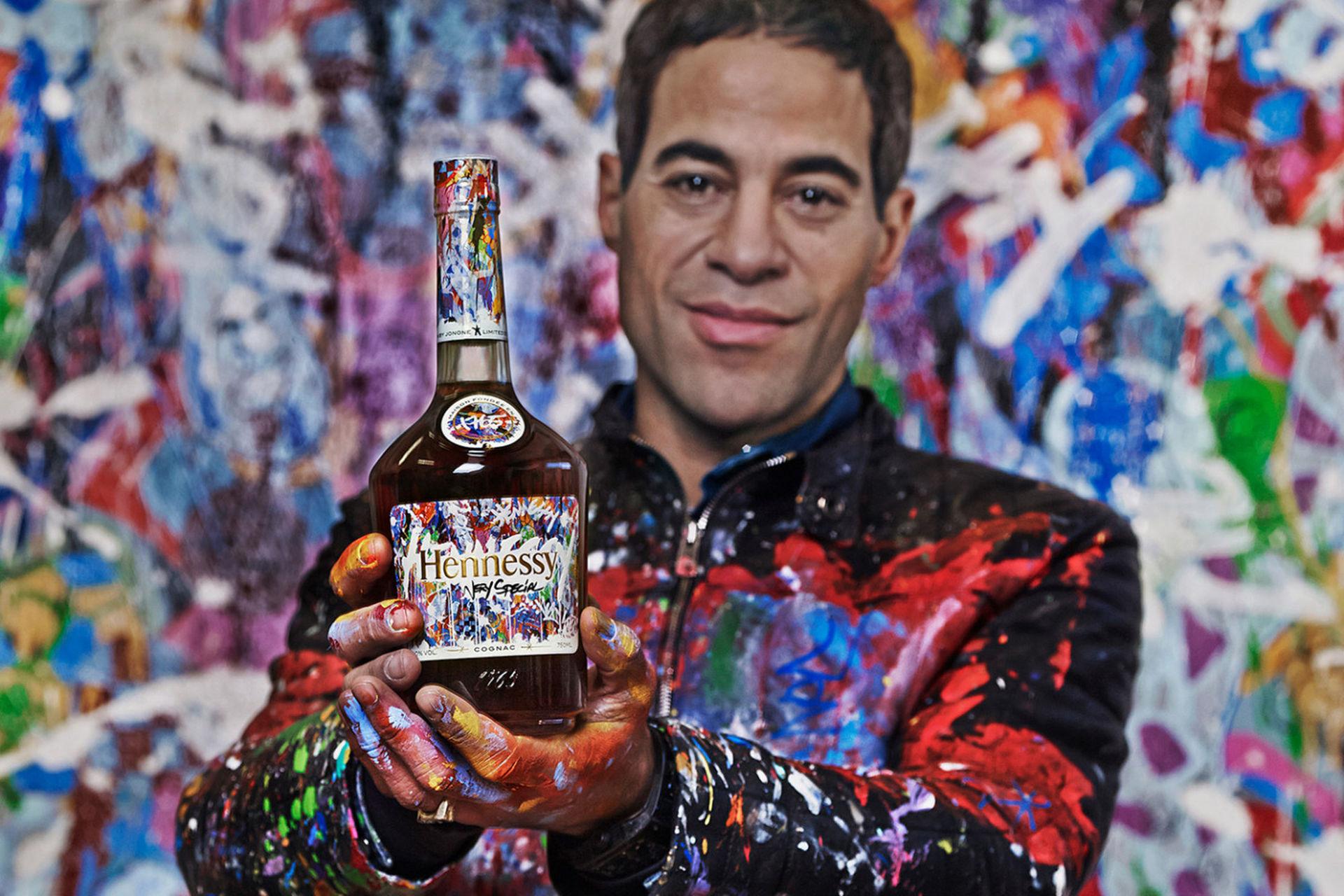 Graffiti-målad flaska från Hennessy