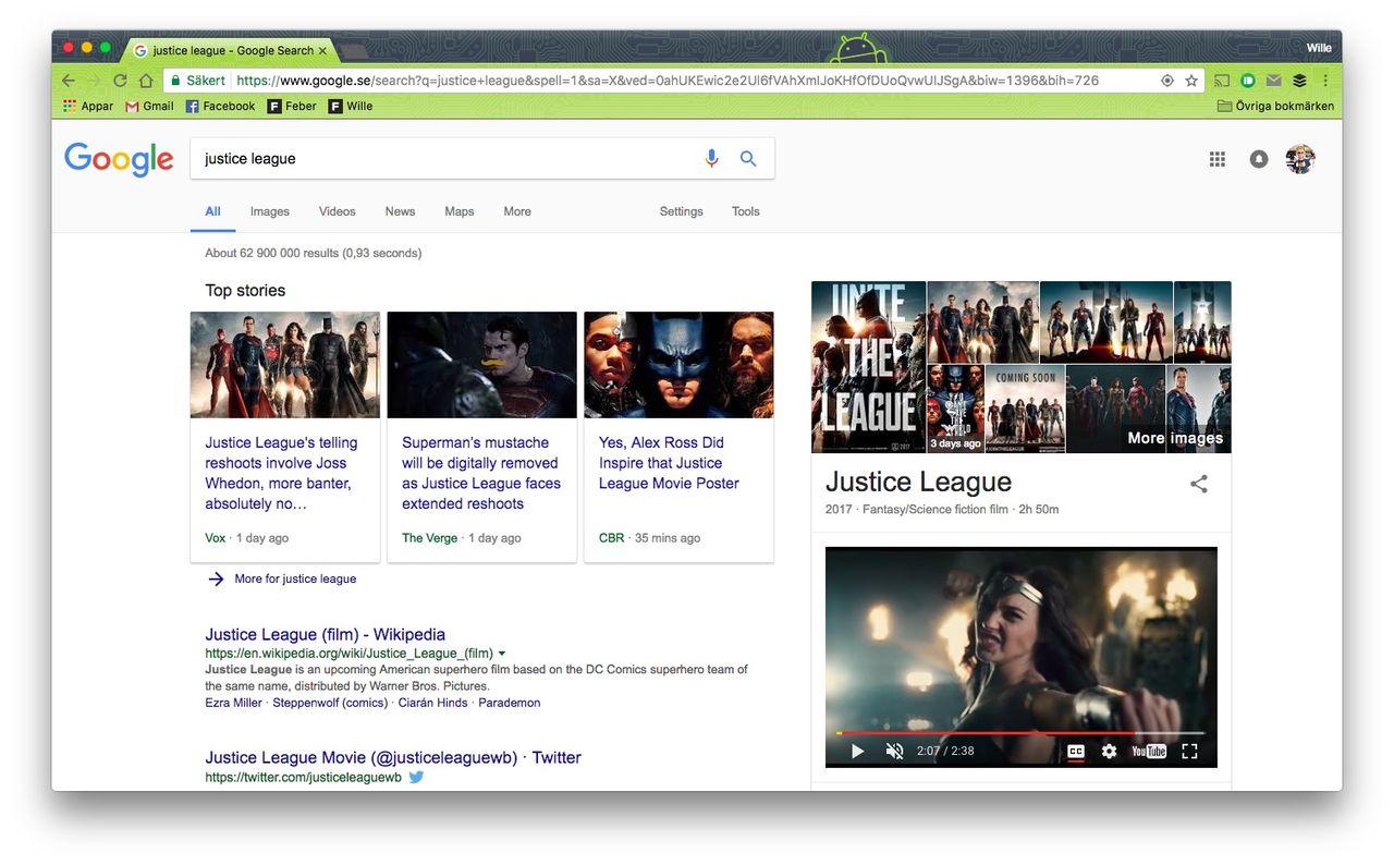 Google testar videos med autoplay i resultatet