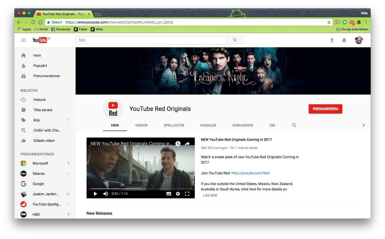 YouTube Red + Google Play Music = Ny streamingtjänst