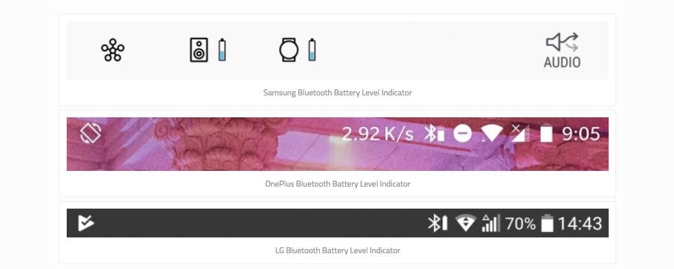 Android får batteri-status för Bluetooth