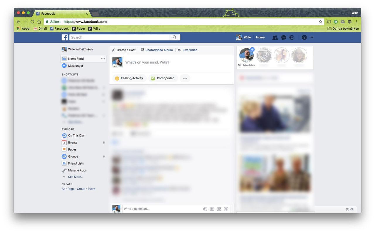 Facebook testar Stories på webben