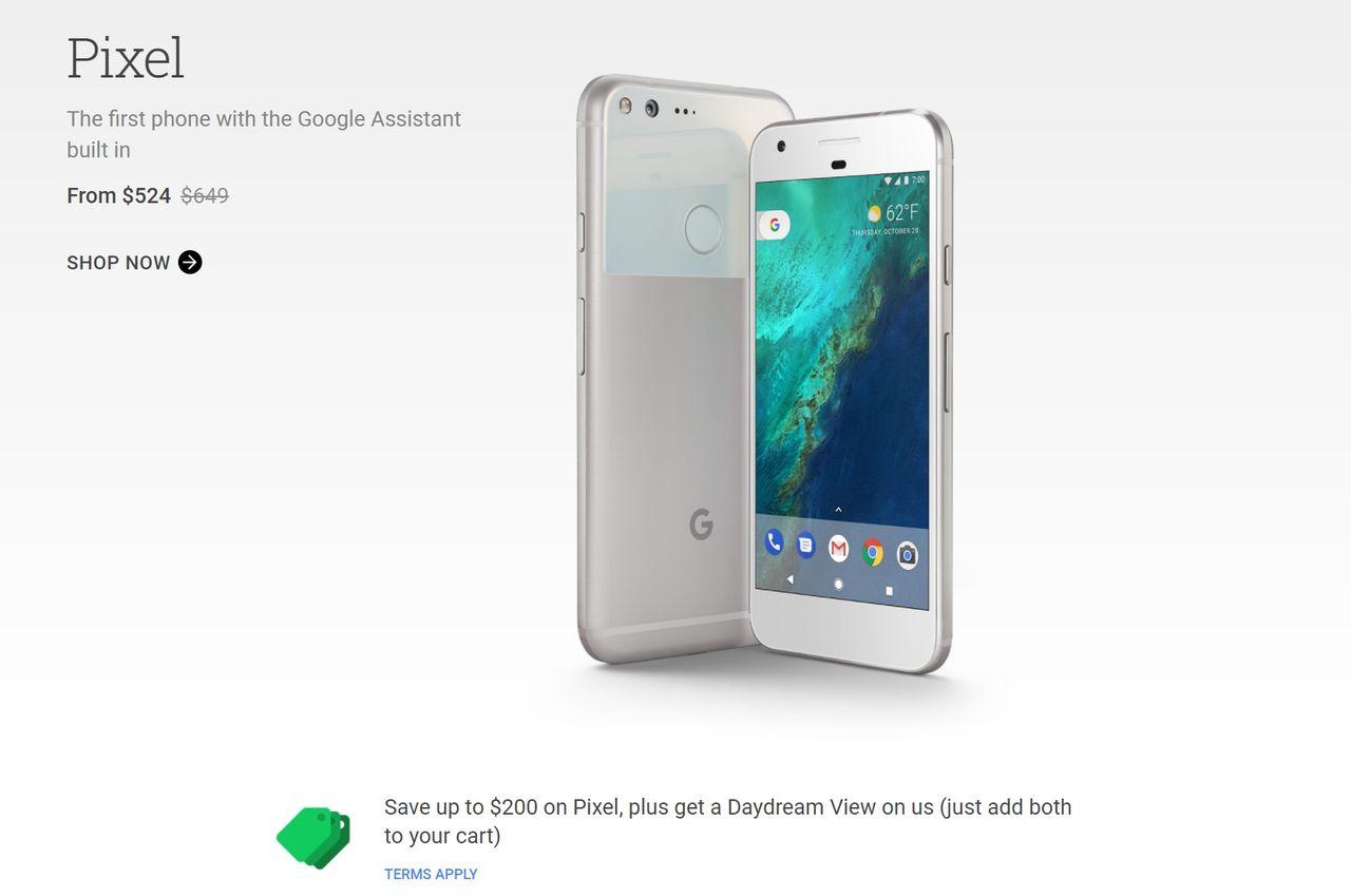 Google sänker priset på Pixel med 200 dollar