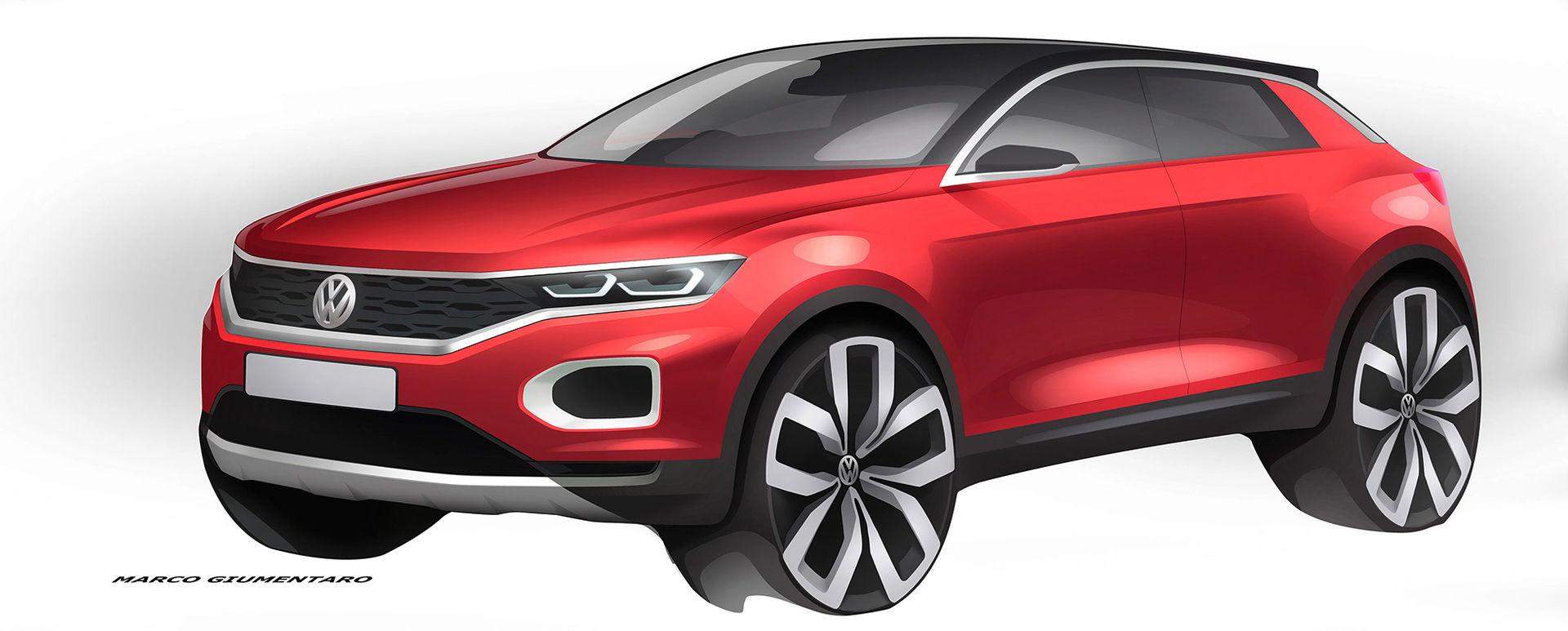 Volkswagen delar med sig av skisser på T-Roc