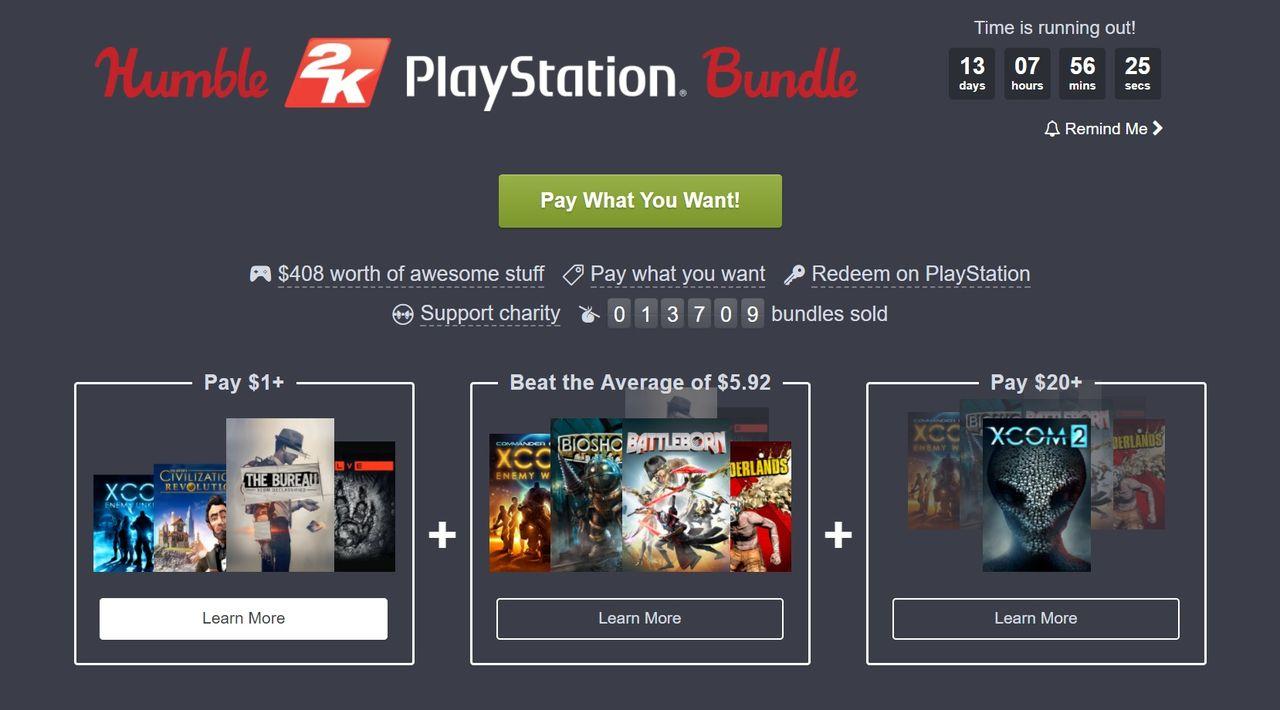 Humble Bundle levererar spelpaket till Playstation