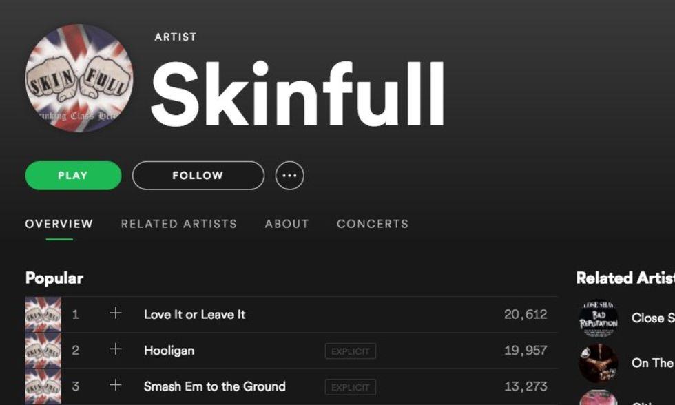 Spotify har börjat radera vitmakt-musik
