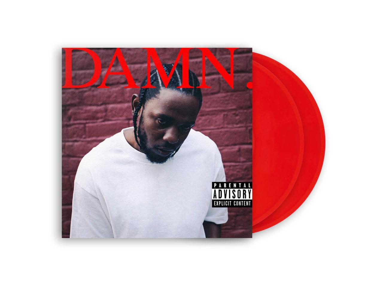 Köp DAMN. på röd vinyl