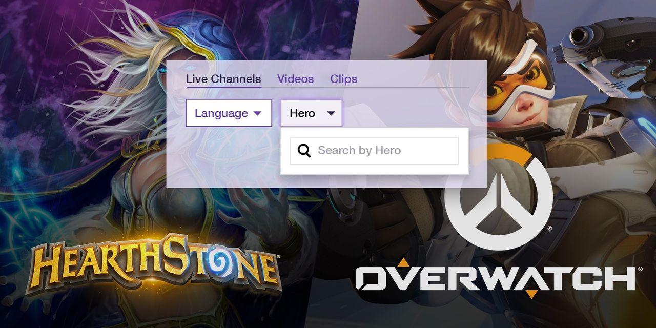 Nu kan man filtrera Twitch på hjältar