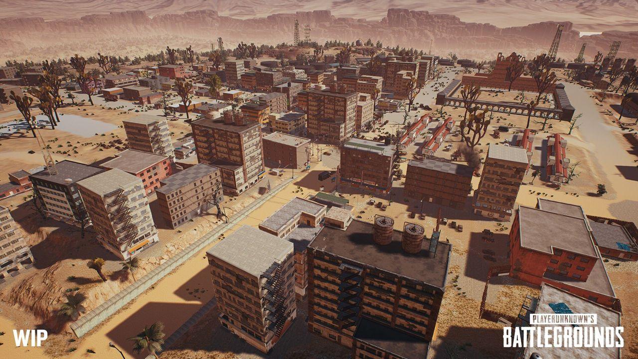Ny bild på ökenbanan till PlayerUnknown's Battlegrounds