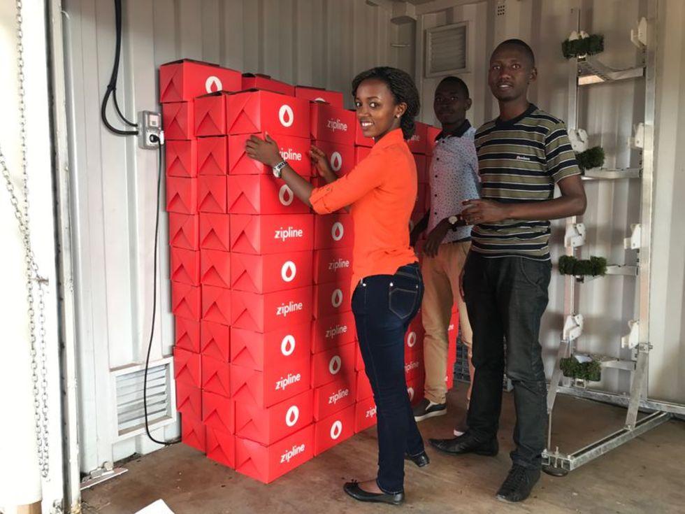 Zipline ska leverera blod med drönare i Tanzania