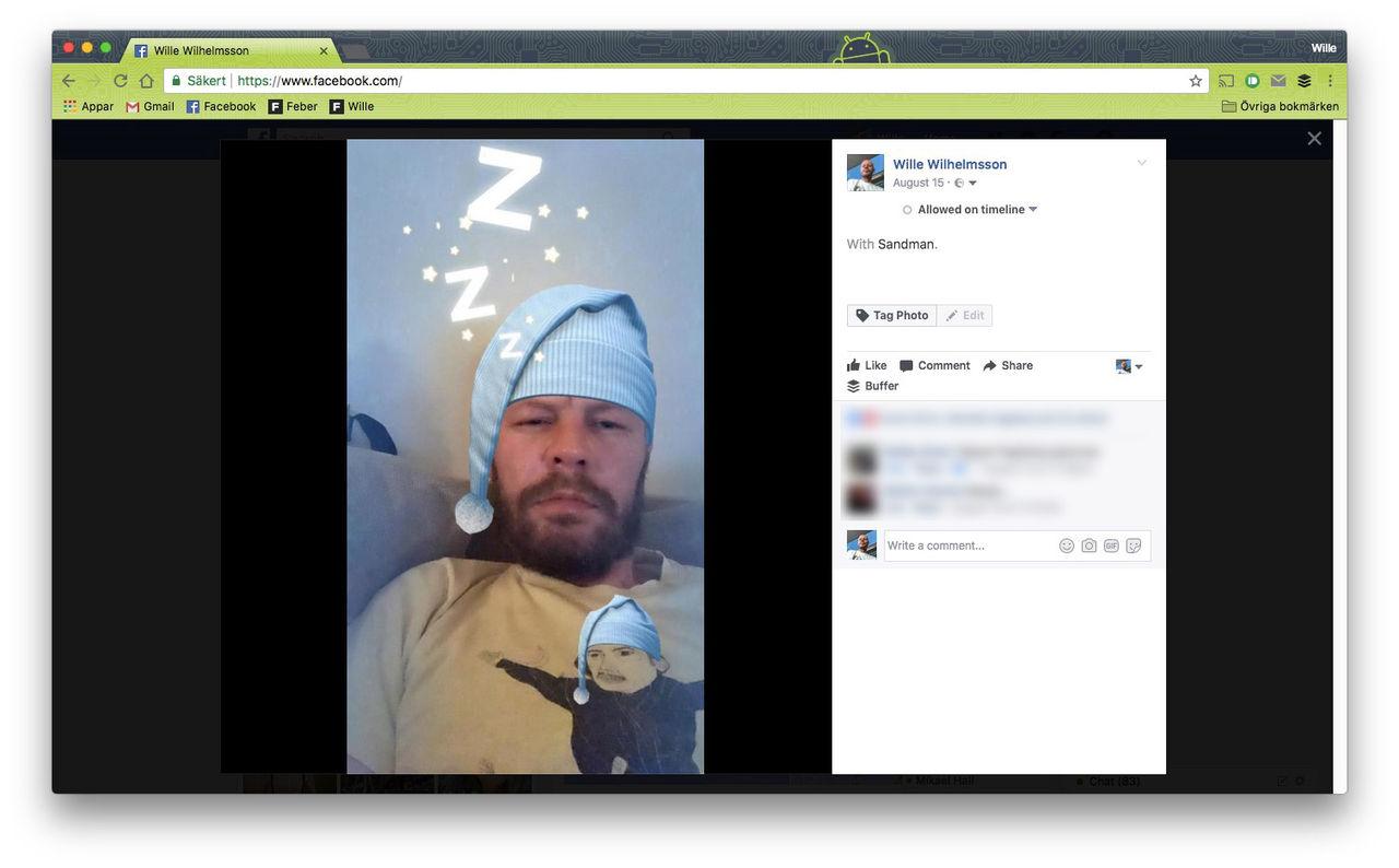 Halva Sverige delar bilder på Facebook