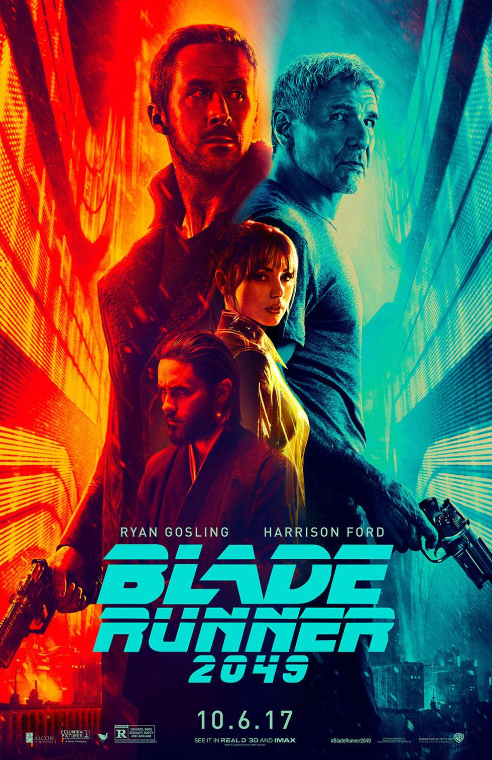 Det här är affischen till Bladerunner 2049