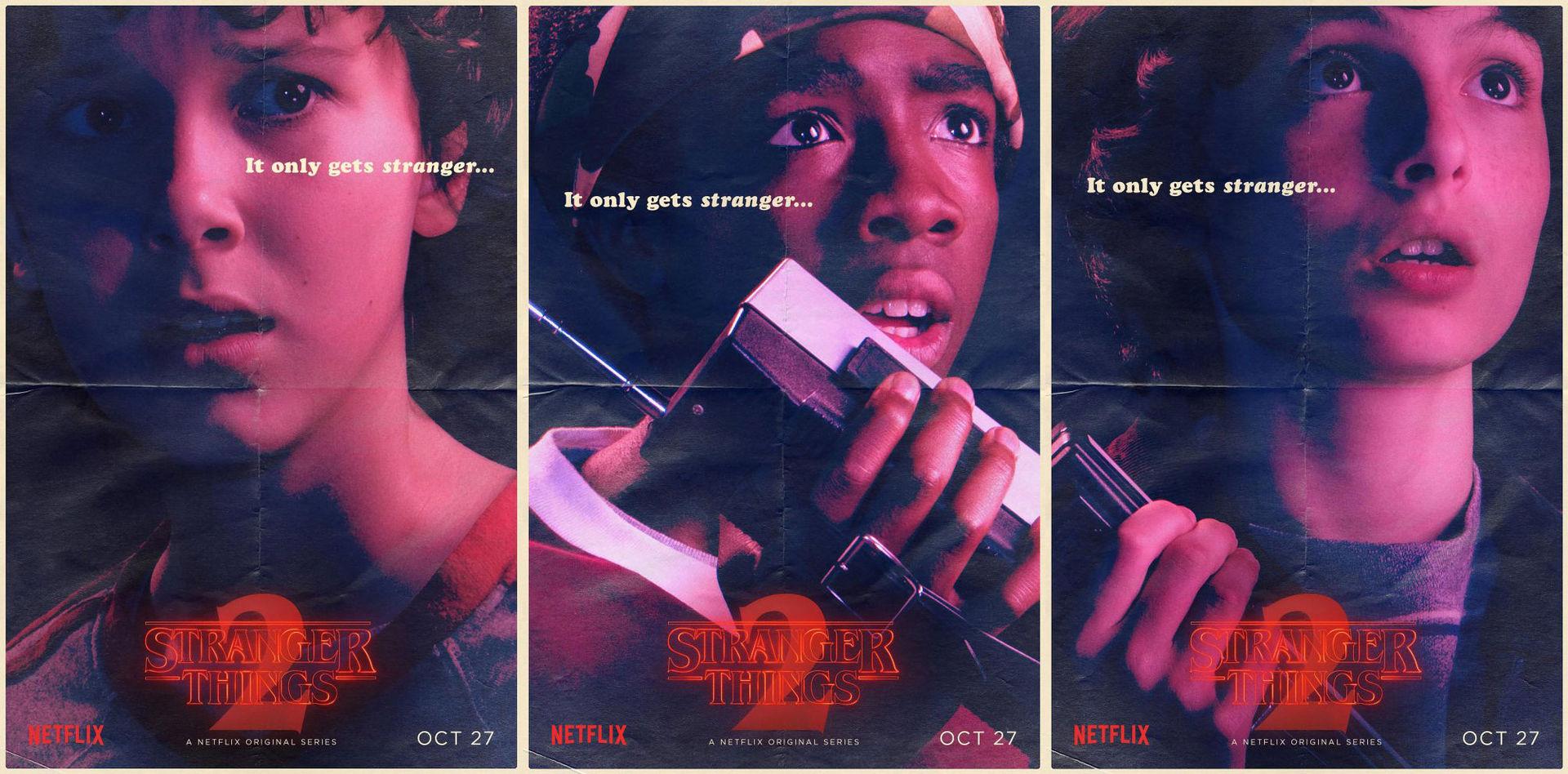 Posters för Stranger Things säsong 2