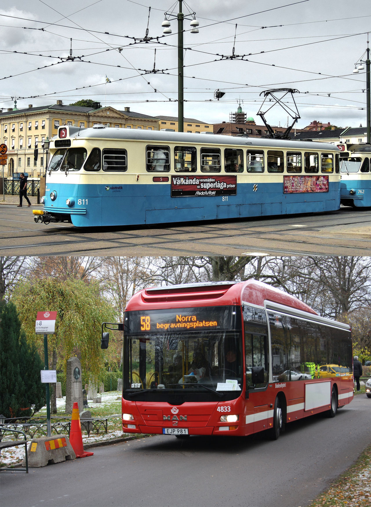 Annonsfirma räknade på spårvagn istället för buss