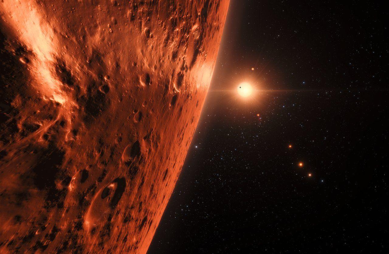 Hubble kan ha upptäckt vatten på TRAPPIST-1-planeterna